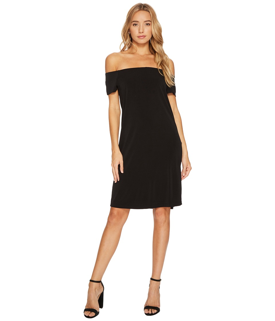 Bishop + Young - Bare Shoulder Dress (Black) Womens Dress