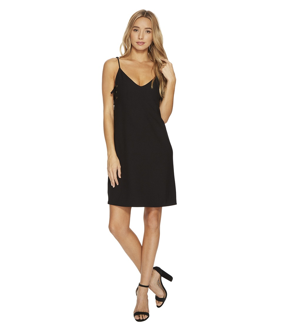 Bishop + Young - Ana Lace-Up Dress (Black) Womens Dress