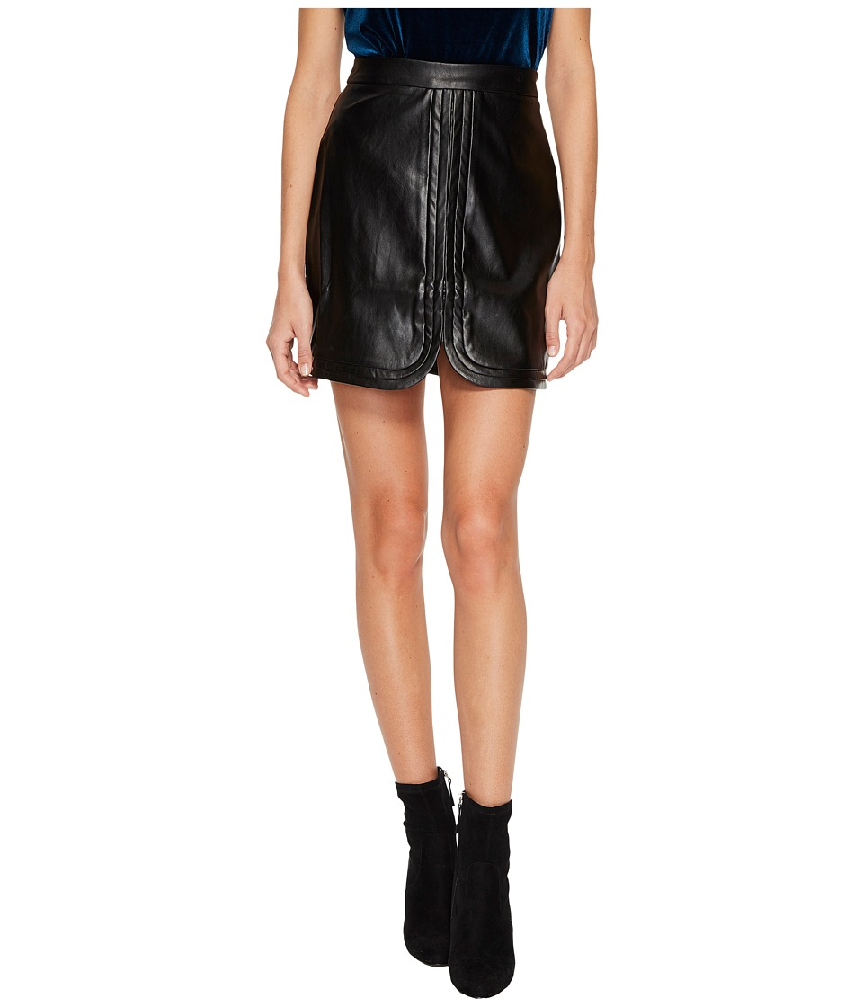 Bishop + Young Faye Vegan Mini Skirt (Black) Women