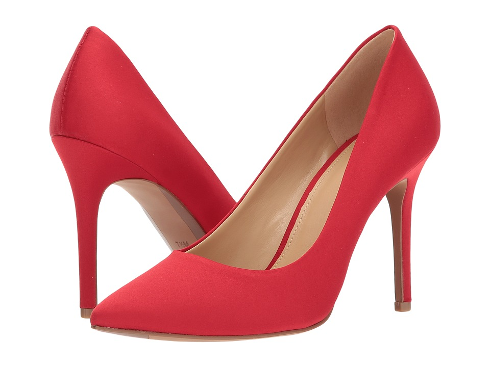 MICHAEL Michael Kors - Claire Pump (Bright Red Satin) Womens Shoes
