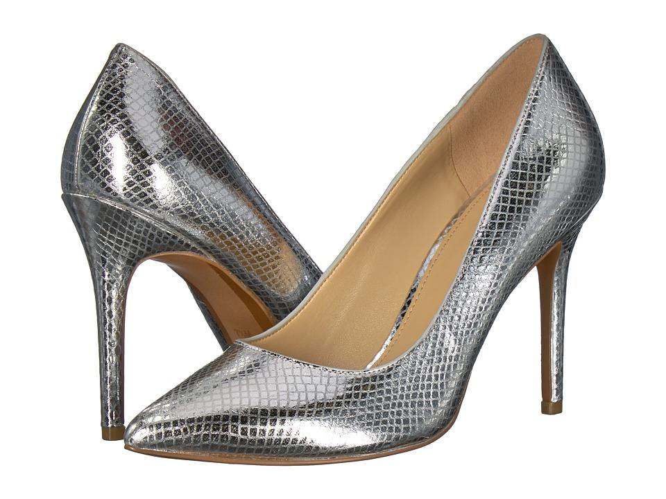 MICHAEL Michael Kors Claire Pump (Silver Shiny Metallic Snake) Women