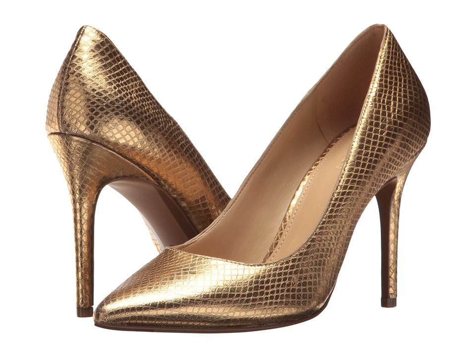 MICHAEL Michael Kors Claire Pump (Gold Shiny Metallic Snake) Women