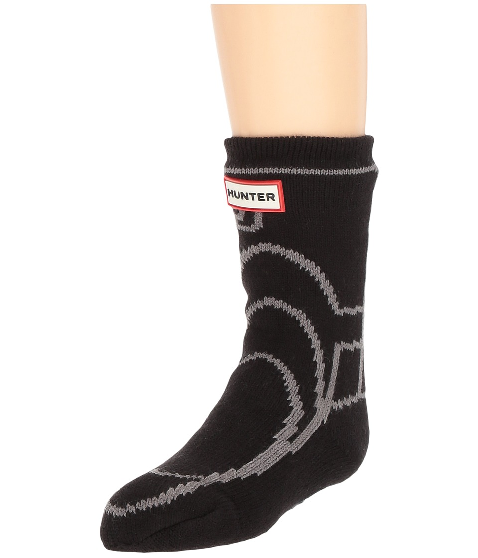 Hunter Kids Original Boot Slipper Socks (Toddler/Little Kid/Big Kid) (Black) Kids Shoes
