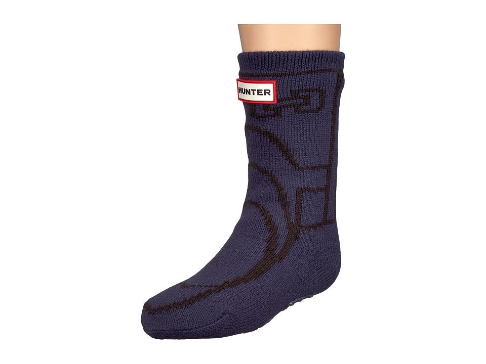 Hunter Kids - Original Boot Slipper Socks (Toddler/Little Kid/Big Kid) (Navy) Kids Shoes