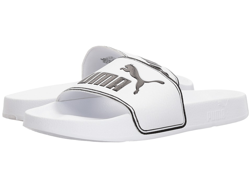 PUMA - Leadcat (Puma White/Puma Black) Mens Sandals