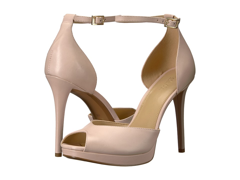 MICHAEL Michael Kors Tiegan Sandal (Soft Pink Smooth Calf) High Heels