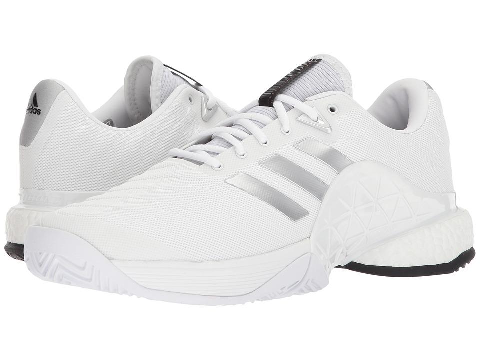 Adidas barricata 2018 boost (bianco / nero / bianco centrale degli uomini di tennis
