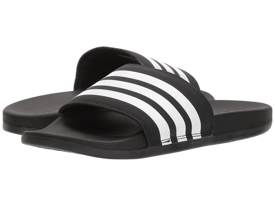 652e1cfd6727 adidas Adilette Cloudfoam Ultra Stripes (Black-White-Black) Womens Slide  Shoes