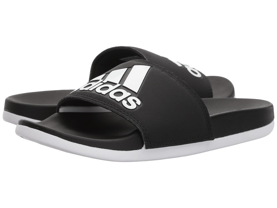 adidas - Adilette CF+ Logo (Black/White/Black) Women's Sandals