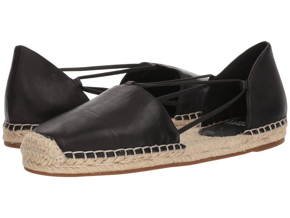 Eileen Fisher - Lee (Black Washed Leather) Womens Flat Shoes