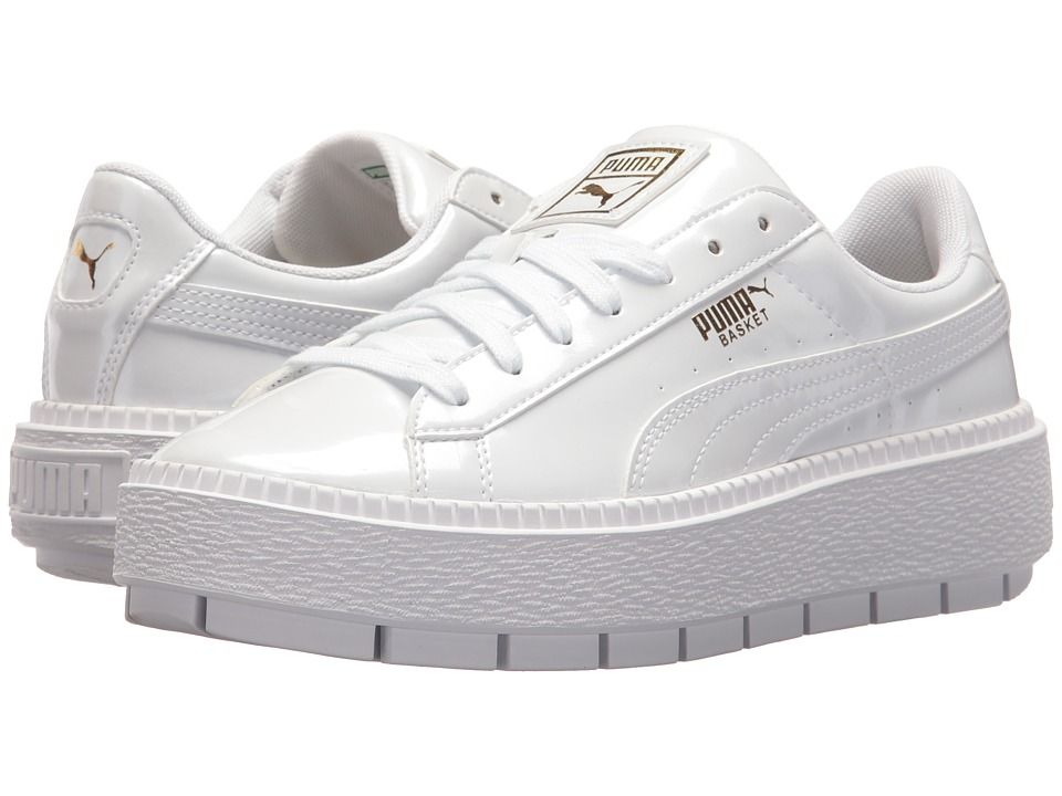 puma basket platform iridescent puma white bluefish womens shoes on fantastic toe. Black Bedroom Furniture Sets. Home Design Ideas