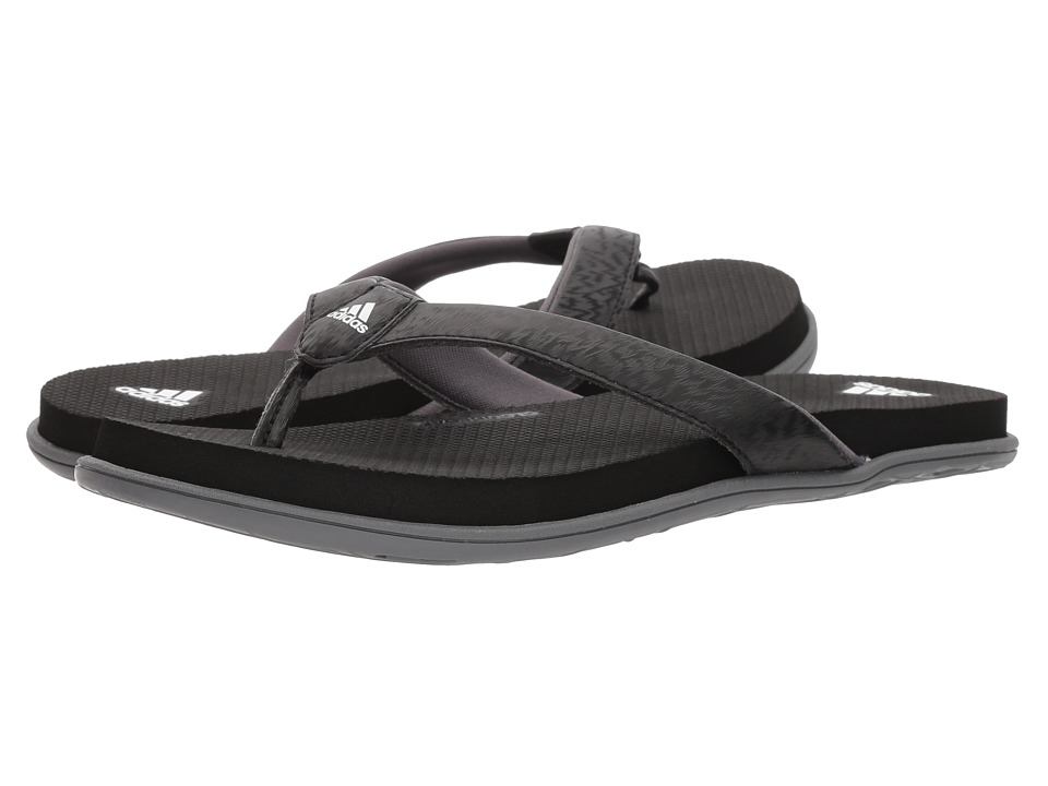 adidas - Cloudfoam One Y (Black/White/Grey) Women's Sandals