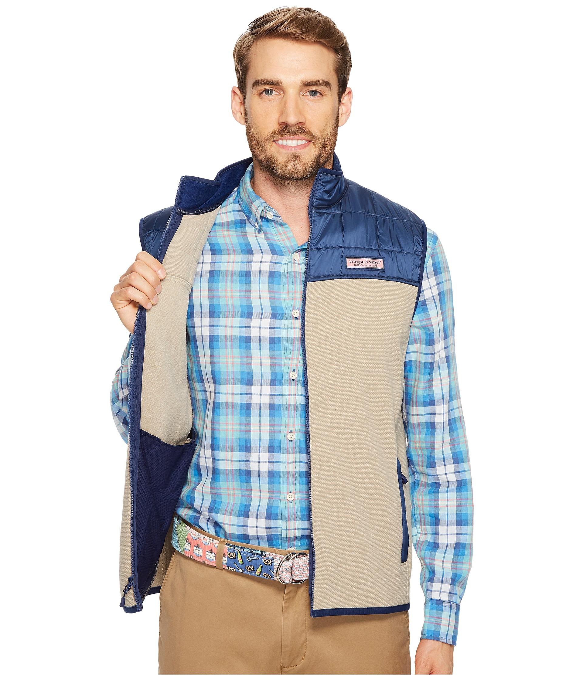 Vineyard Vines Jacquard Fleece Vest at Zappos.com