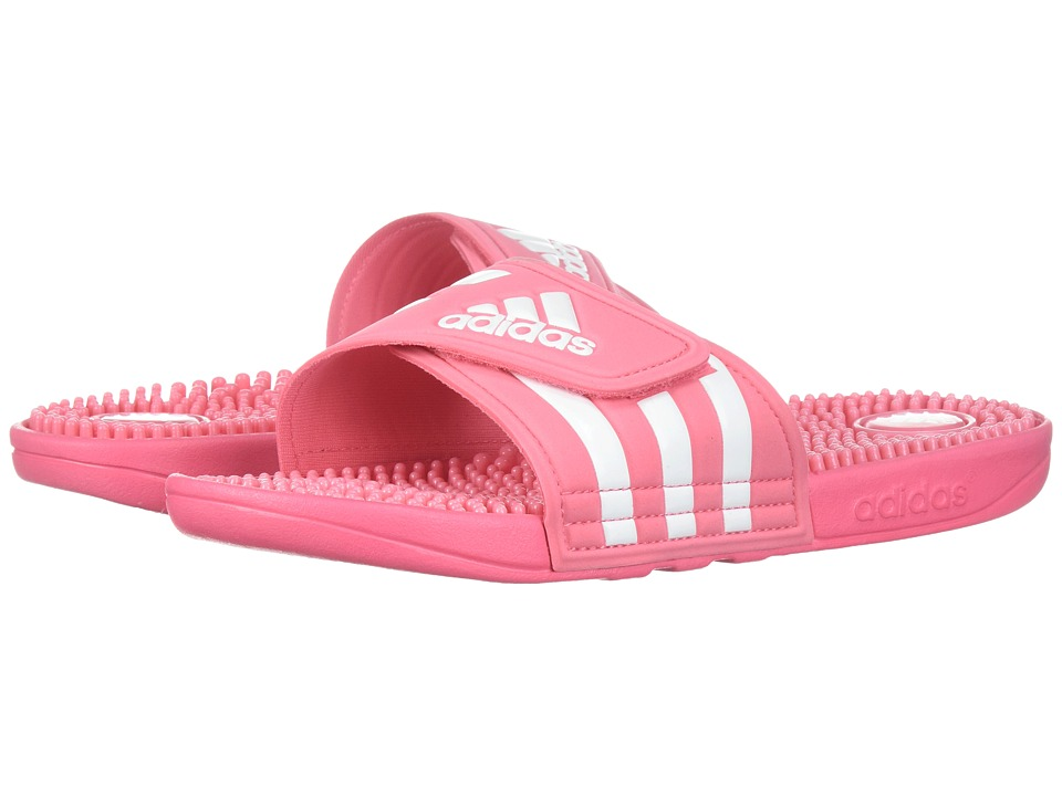 adidas - adissage (Chalk Pink/White/Chalk Pink) Womens Sandals