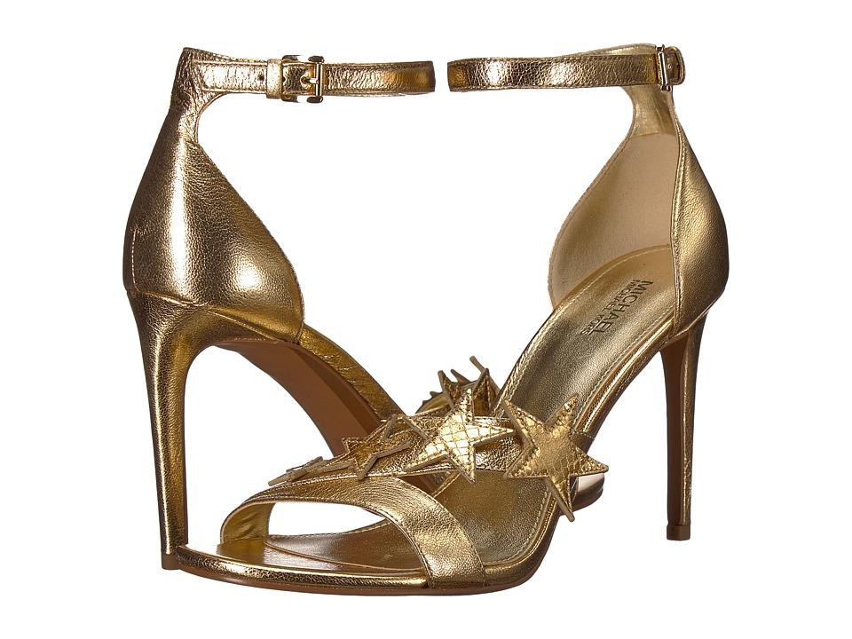 MICHAEL Michael Kors - Lexie Sandal (Pale Gold Metallic Nappa/Shiny Metallic Snake/Mirror Metallic) Women's Sandals