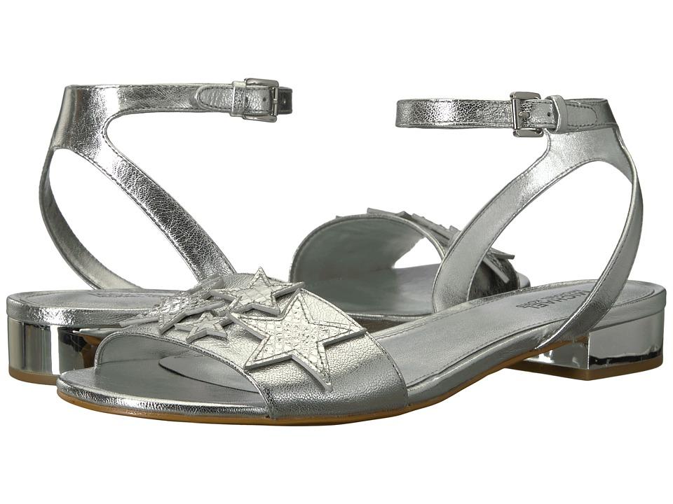 MICHAEL Michael Kors Lexie Flat Sandal (Silver Metallic Nappa/Metallic Snake) Women
