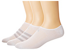 adidas Climacool(r) Superlite Stripe Super No Show Socks 3-Pack