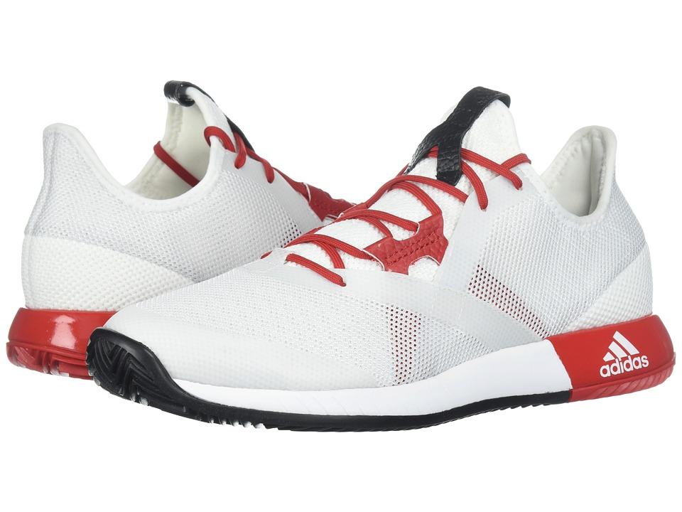 adidas adizero Defiant Bounce (White/Scarlet/Black) Women