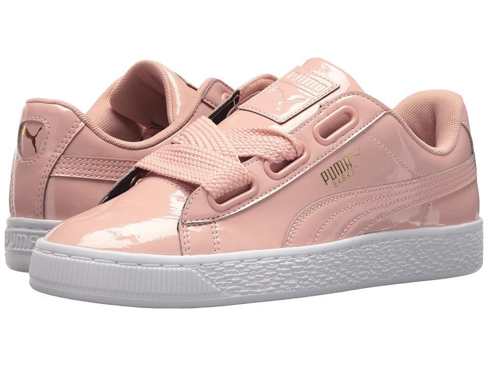 Women S Puma Basket Heart Patent Casual Shoes