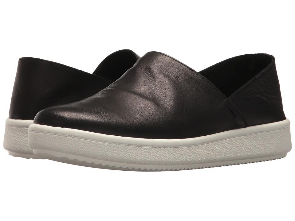 Eileen Fisher - Panda 2 (Black Tumbled Leather) Womens Slip on  Shoes