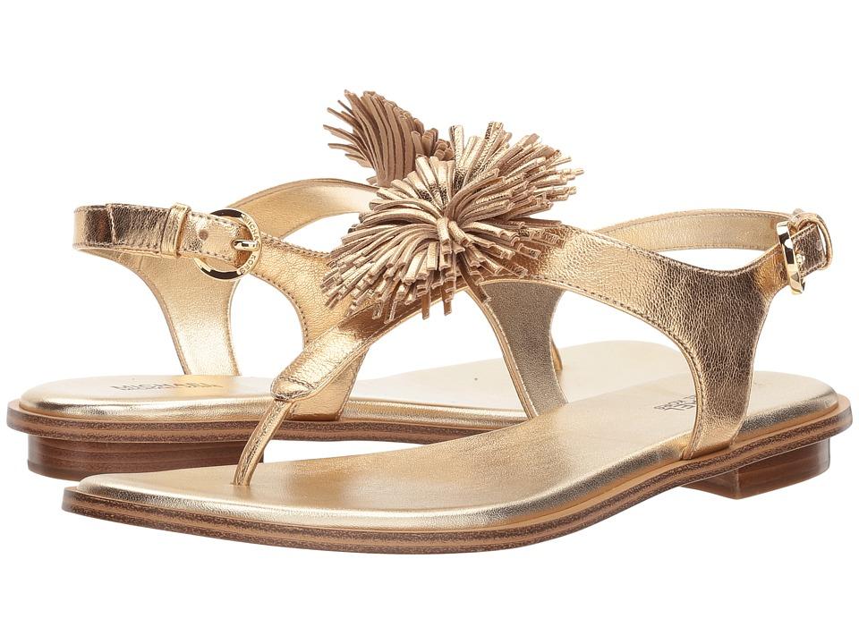 MICHAEL Michael Kors - Lolita Thong (Pale Gold Metallic Nappa) Women's Sandals