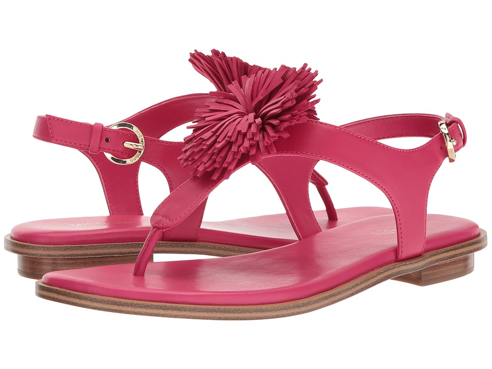 Michael Kors Lolita Thong (Ultra Pink Nappa) Women's Sandals