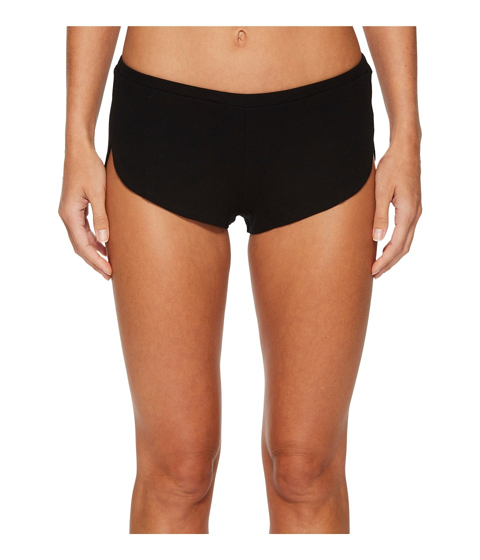 Only Hearts - Feather Weight Rib Gym Shorts (Black) Womens Pajama