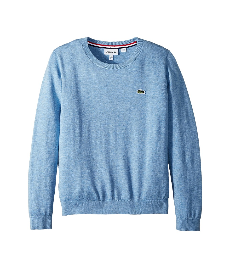 Lacoste Kids Classic Jersey Crew Neck Sweater (Toddler/Little Kids/Big Kids) (Dragonfly Chine) Boy