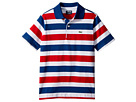 Lacoste Kids Short Sleeve Striped Jersey Polo (Little Kids/Big Kids)