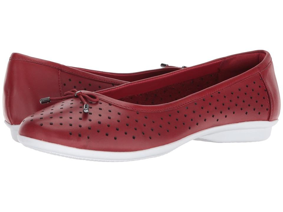 Clarks - Gracelin Lea (Red Leather) Womens Shoes