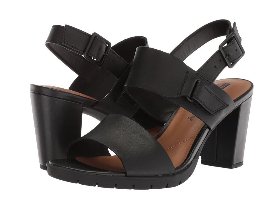 Clarks - Kurtley Shine (Black Leather) High Heels