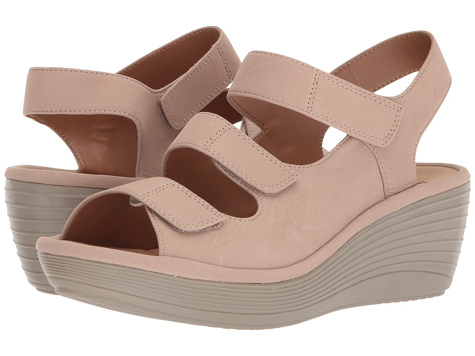 Clarks - Reedly Juno (Sand Nubuck) Womens Wedge Shoes