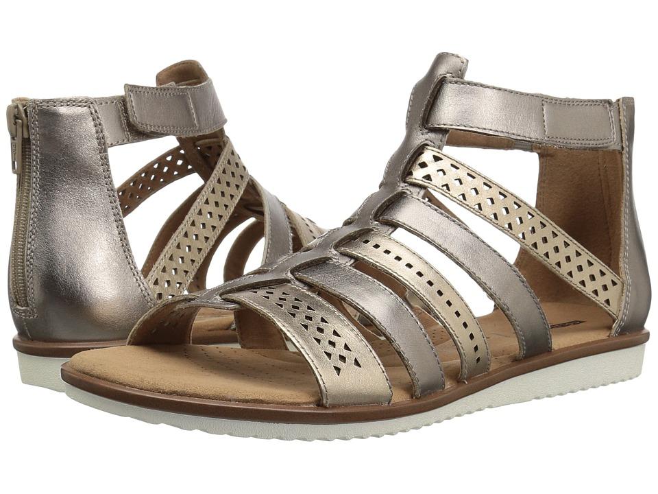 Clarks Kele Lotus (Metallic Multi Leather) Sandals