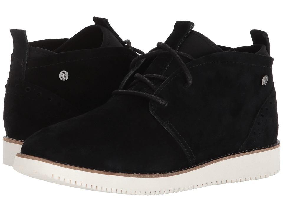 Hush Puppies Chowchow Chukka (Black Suede) Women's Lace-up Boots