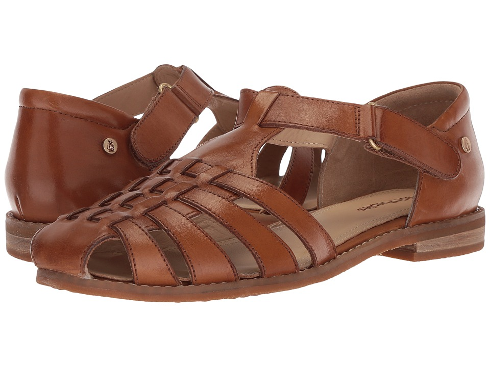 1920s Style Shoes Hush Puppies - Chardon Fisherman Tan Leather Womens Sandals $89.95 AT vintagedancer.com