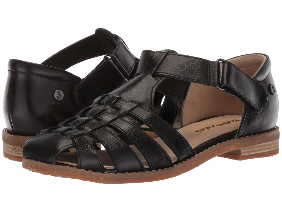 Hush Puppies Chardon Fisherman (Black Leather) Sandals