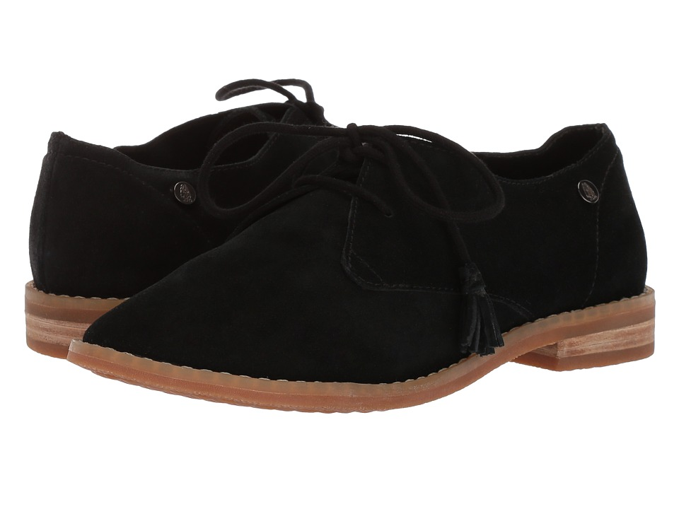 Hush Puppies Chardon Oxford (Black Suede) Women's Lace Up Cap Toe Shoes