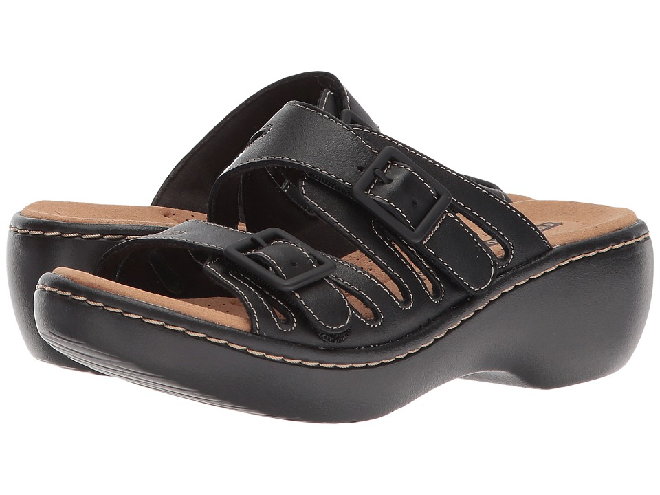 Clarks Delana Liri (Black Leather) Women's Shoes