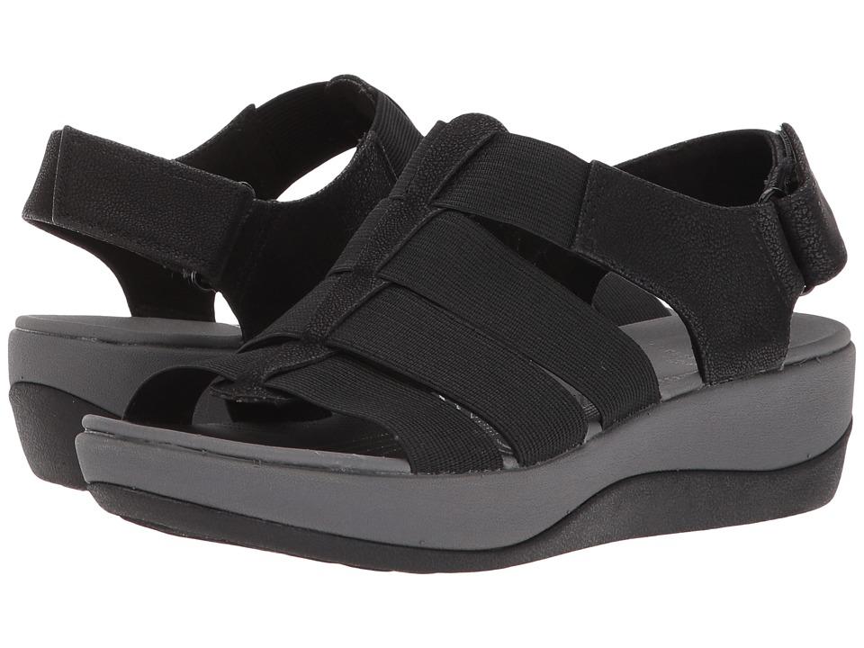 Clarks Arla Shaylie (Black Elastic Fabric) Sandals