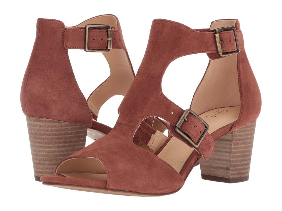 Clarks - Deloria Kay (Mahogany Leather) Womens 1-2 inch heel Shoes