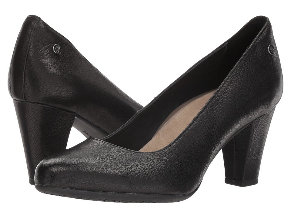Hush Puppies Minam Meaghan (Black Leather) High Heels