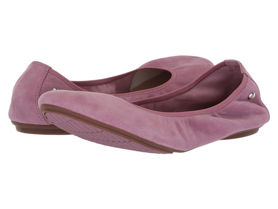 Hush Puppies Chaste Ballet (Dusty Orchid Suede) Flats