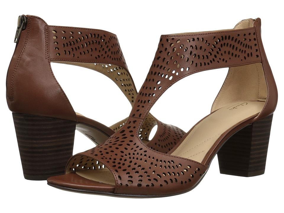 Clarks Deloria Liv (Mahogany Leather) High Heels