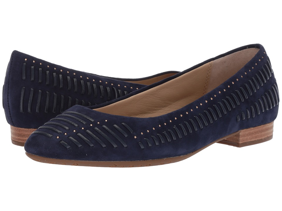 Hush Puppies Phoebe Ladder Stud (Royal Navy Suede) Flats