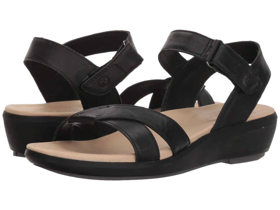 Hush Puppies Lyricale Quarter Strap (Black Leather) Sandals