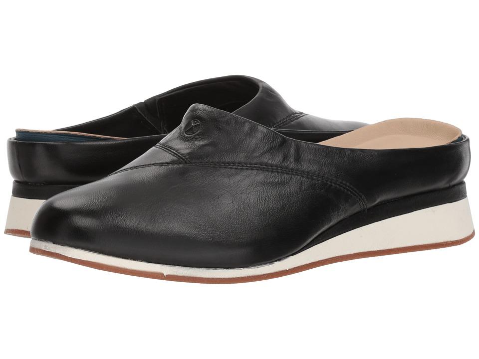 Hush Puppies Evaro Mule (Black Leather) Women's Clog/Mule Shoes