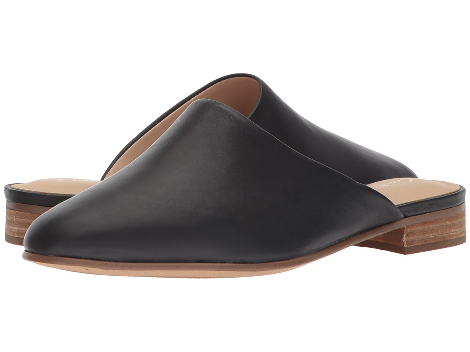 Clarks - Pure Blush (Black Leather) Womens Shoes