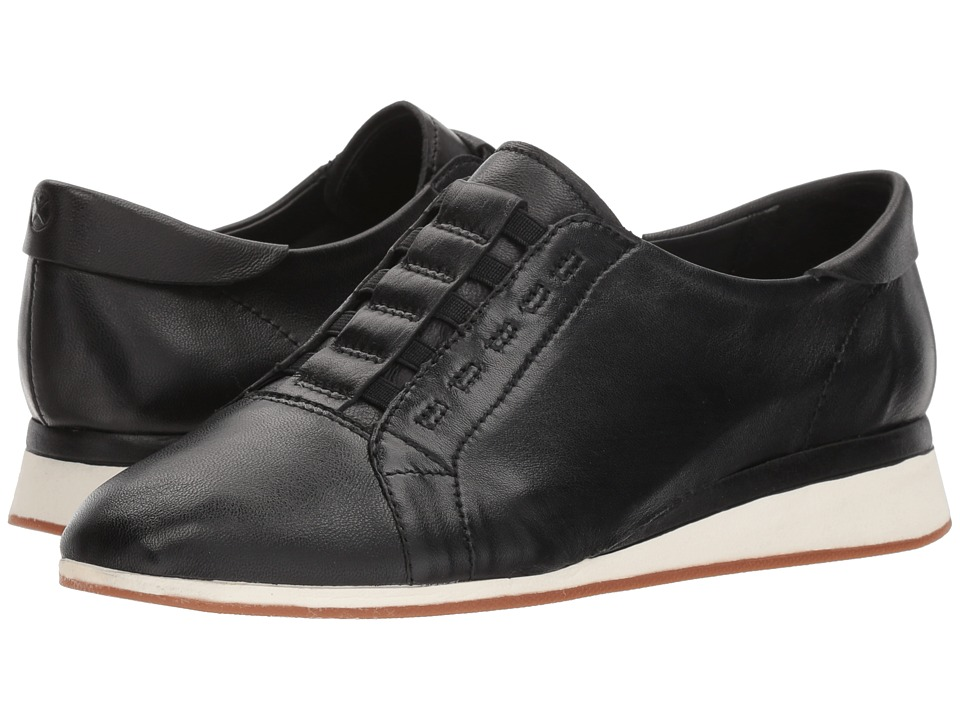 Hush Puppies Evaro Slip-On Oxford (Black Leather) Slip-On Shoes