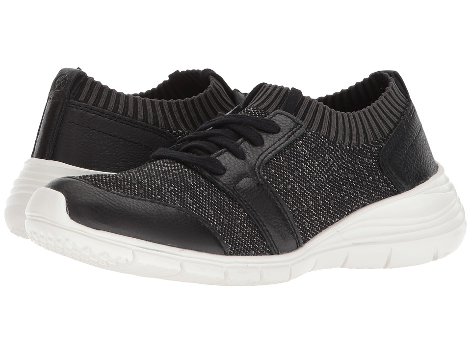 Hush Puppies Cypress Knit Lace-Up (Black/White Textile)