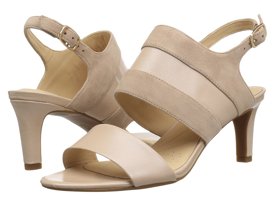 Clarks - Laureti Joy (Cream Combination Leather) High Heels